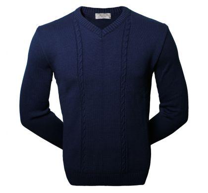 Классический пуловер (1076), цвет синий, D.Steech, фото № 1