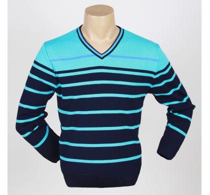 Свободный пуловер (1078v), цвет Сине-бирюза, D.Steech, фото № 1