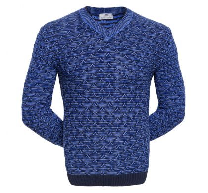 Красивый пуловер (1713V), цвет синий, D.Steech, фото № 1
