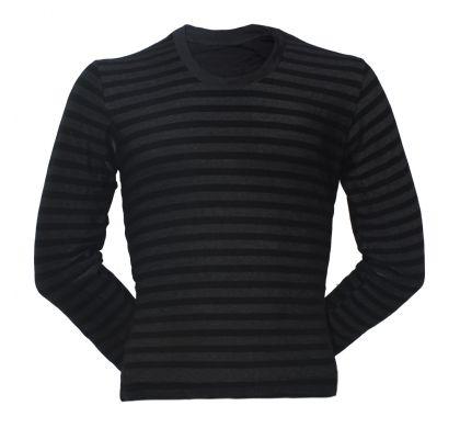 Полосатая  футболка ( FD-2A), цвет чёрный, D.Steech, фото № 1
