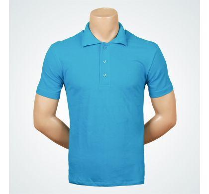 Футболка поло (Т-007 ), цвет Голубой, D.Steech, фото № 7