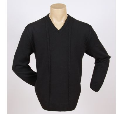 Классический пуловер (1076), цвет Черный, D.Steech, фото № 2