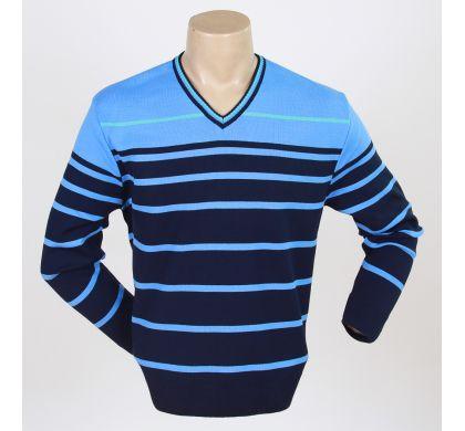 Свободный пуловер (1078v), цвет синий-голубой, D.Steech, фото № 2
