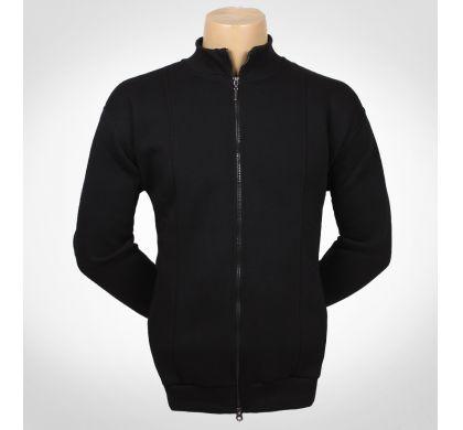 Теплая толстовка, флис, с карманами. XL-4XL(T-56), цвет Черный, D.Steech, фото № 2