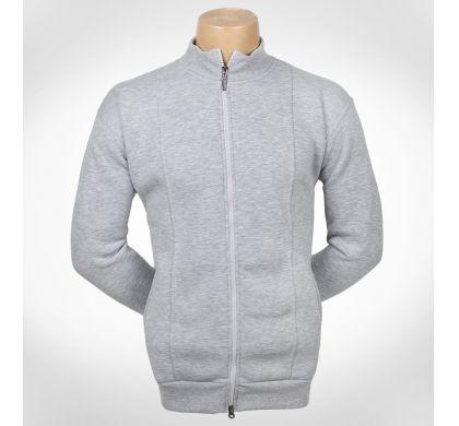 Теплая толстовка, флис, с карманами. XL-4XL(T-56), цвет Светло-серый, D.Steech, фото № 3