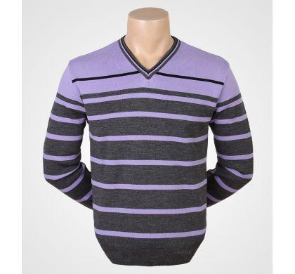Свободный пуловер (1078v), цвет Серый-сиреневый, D.Steech, фото № 3