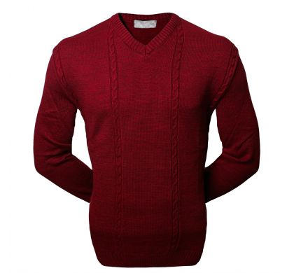 Классический пуловер (1076), цвет бордо, D.Steech, фото № 4