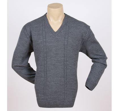 Классический пуловер (1076), цвет темно-серый, D.Steech, фото № 3