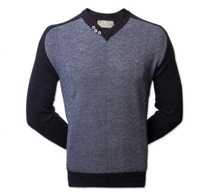 Классический пуловер (1318), цвет джинс, D.Steech, фото № 1