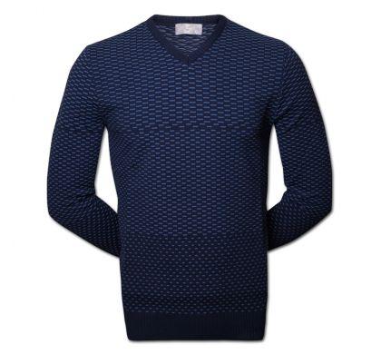 Классический пуловер (1313), цвет синий, D.Steech, фото № 2