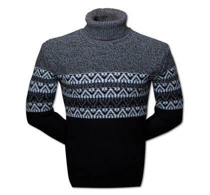 Практичный теплый свитер (1375), цвет черный, D.Steech, фото № 1