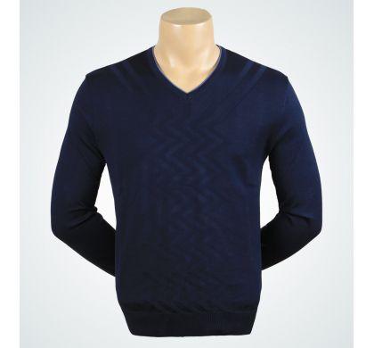 Классический пуловер (1160), цвет синий, D.Steech, фото № 1