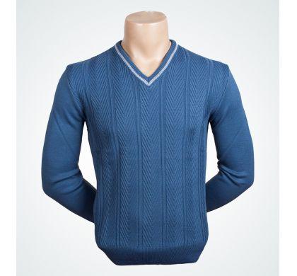 Стильный пуловер (1242), цвет Джинсовый, D.Steech, фото № 1