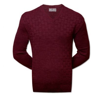 Классический пуловер XXL-5XL ( 1475 ), цвет бордо, D.Steech, фото № 1