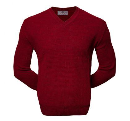 Классический пуловер (1535), цвет бордо, D.Steech, фото № 2