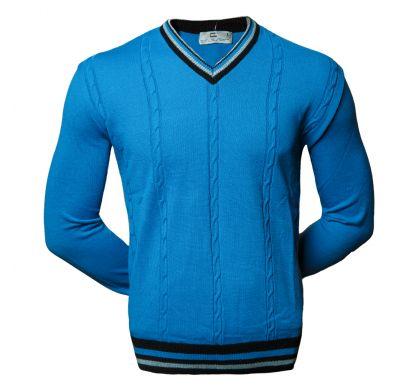 Классический пуловер (1614), цвет голубой, D.Steech, фото № 1