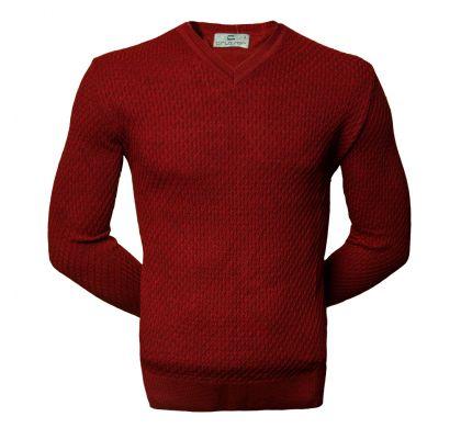 Пуловер в рубчик (1615), цвет бордовый, D.Steech, фото № 1
