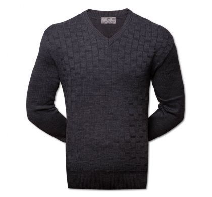 Классический пуловер XXL-5XL ( 1475 ), цвет тёмно-серый, D.Steech, фото № 4