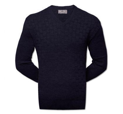 Классический пуловер XXL-5XL ( 1475 ), цвет синий, D.Steech, фото № 2
