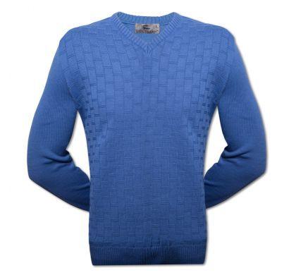 Классический пуловер XXL-5XL ( 1475 ), цвет джинс, D.Steech, фото № 3