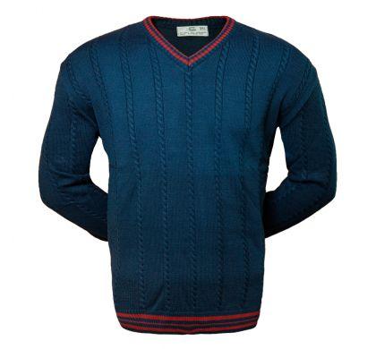 Классический пуловер 3XL-5XL ( 1610 ), цвет синий, D.Steech, фото № 1