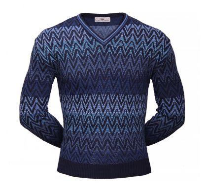 Классический пуловер ( 1718 ), цвет синий, D.Steech, фото № 1