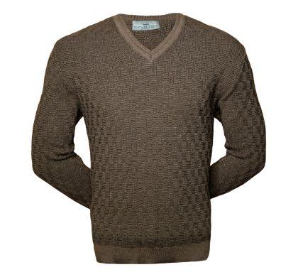 Классический пуловер коричневого цвета  ( 1621 ), цвет коричневый, D.Steech, фото № 1