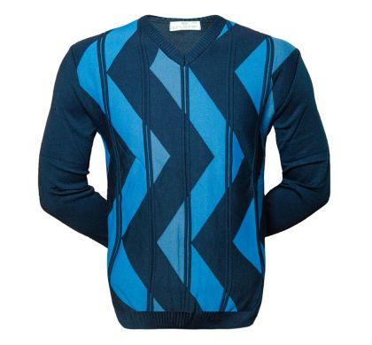 Классический пуловер ( 1645 ), цвет синий, D.Steech, фото № 1