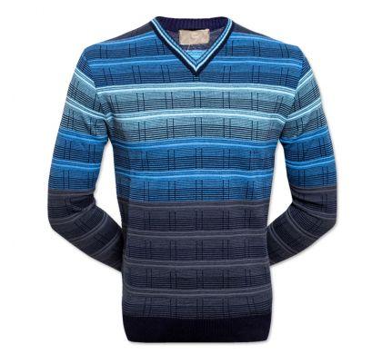Классический пуловер 6XL-7XL (1749), цвет джинс, D.Steech, фото № 1