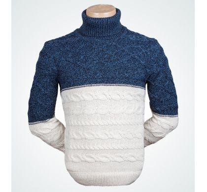 Теплый свитер (1265), цвет Бежевый-джинс, D.Steech, фото № 1
