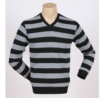Легкая полосатая футболка (2094v), цвет Светло-серый, D.Steech, фото № 1