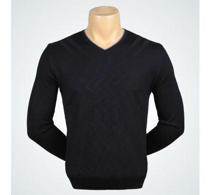 Классический пуловер (1160), цвет Черный, D.Steech, фото № 2