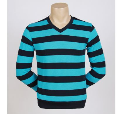Легкая полосатая футболка (2094v), цвет синий-бирюза, D.Steech, фото № 2