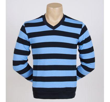 Легкая полосатая футболка (2094v), цвет Синий-голубой, D.Steech, фото № 3