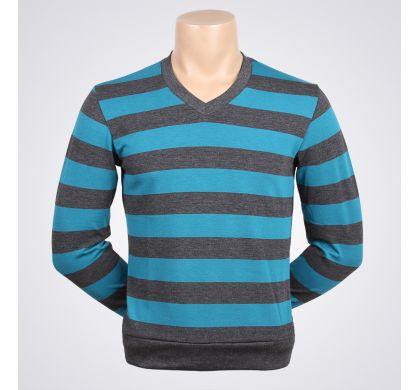 Легкая полосатая футболка (2094v), цвет серый-бирюза, D.Steech, фото № 5