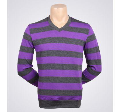 Легкая полосатая футболка (2094v), цвет Серый-сиреневый, D.Steech, фото № 6