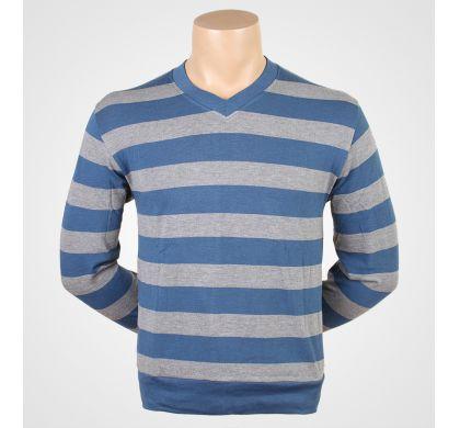 Легкая полосатая футболка (2094v), цвет Джинсовый, D.Steech, фото № 8