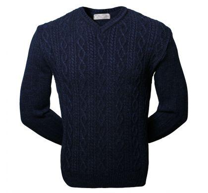 Пуловер с косами (1260), цвет синий, D.Steech, фото № 3