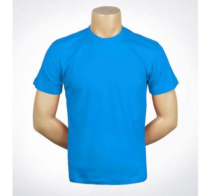 Футболка подростковая 100% хлопок (D-01A), цвет Голубой, D.Steech, фото № 10