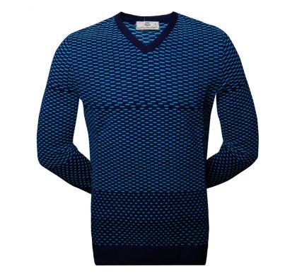 Классический пуловер (1313), цвет голубой, D.Steech, фото № 4