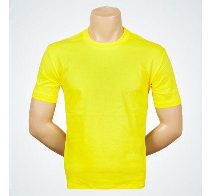 Футболка подростковая 100% хлопок (D-01A), цвет Лимонный, D.Steech, фото № 9