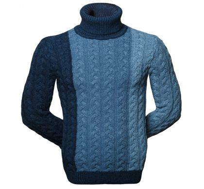 Теплый свитер с косами ( 1575 ), цвет синий, D.Steech, фото № 1