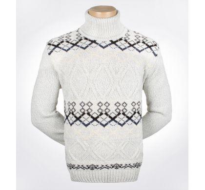Теплый свитер с орнаментом(1142), цвет Светло-серый, D.Steech, фото № 1