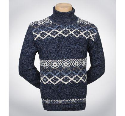 Теплый свитер с орнаментом(1142), цвет джинс, D.Steech, фото № 4