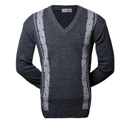 Классический пуловер (1301), цвет темно-серый, D.Steech, фото № 1