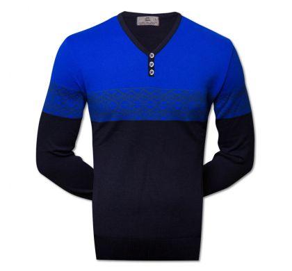 Классический пуловер  (1510), цвет синий-голубой, D.Steech, фото № 1