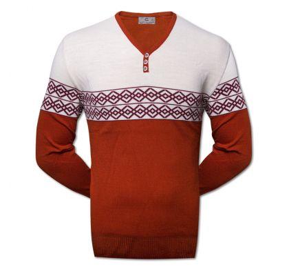 Классический пуловер  (1510), цвет рыжый, D.Steech, фото № 2