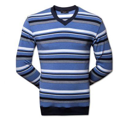 Полосатый лонгслив 3XL-5XL (2232), цвет синий, D.Steech, фото № 1